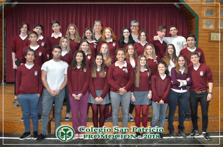 Egresados Colegio San Patricio Bariloche 2018